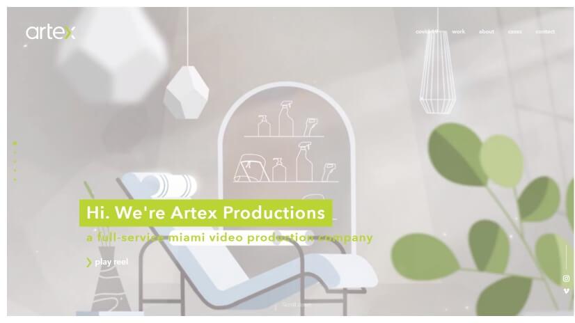 artexproductions.com - small business website design