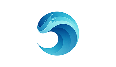 Wave gradient logo