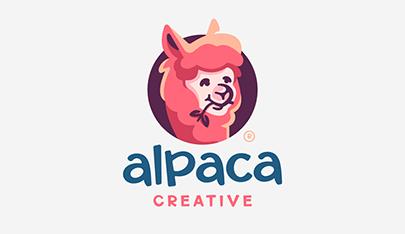 Alpaca funny logo
