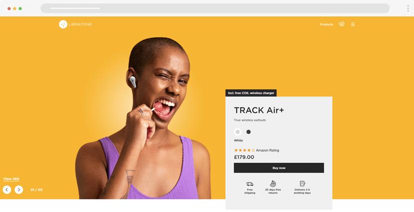 libratone - beautiful ecommerce website