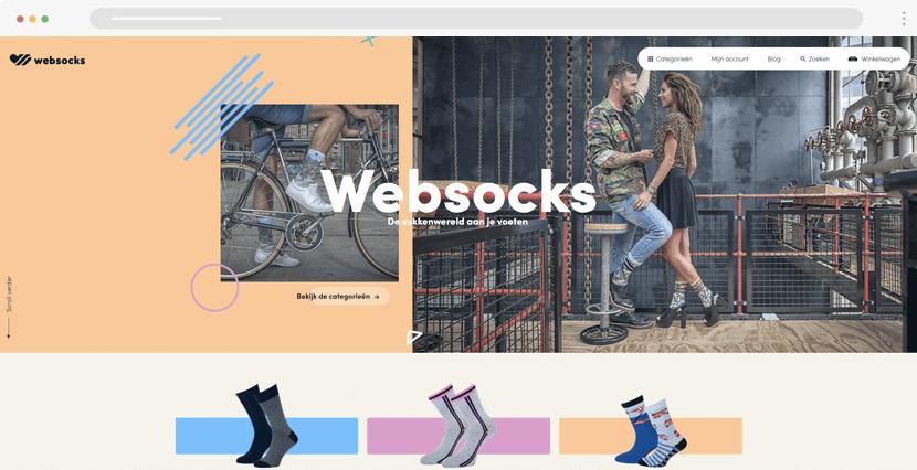 websocks ecommerce website