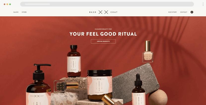 basecoatnailsalon - online store website