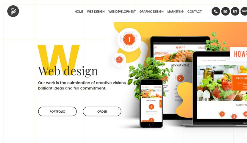 popwebdesign.net modern style landing page web design