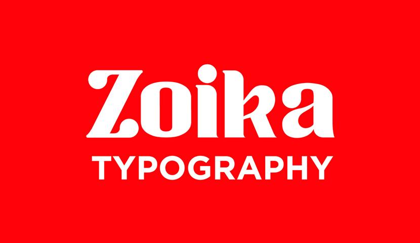 free Zoika typeface
