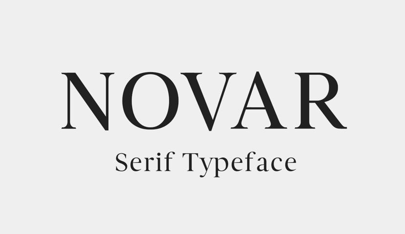 free Novar font