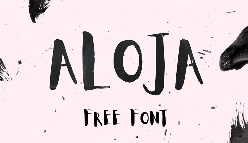 free Aloja typeface