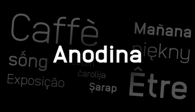 Anodina free typeface