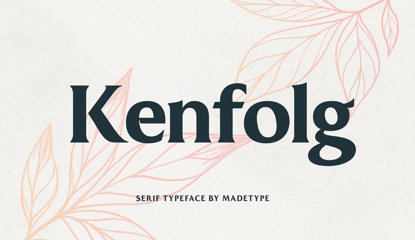 Kenfolg free serif font