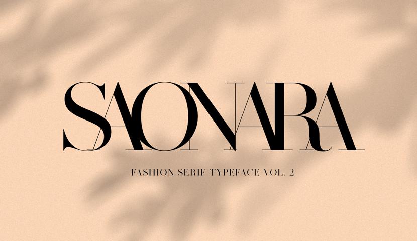 SAONARA modern serif typeface