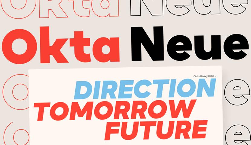 Okta Neue futuristic typeface
