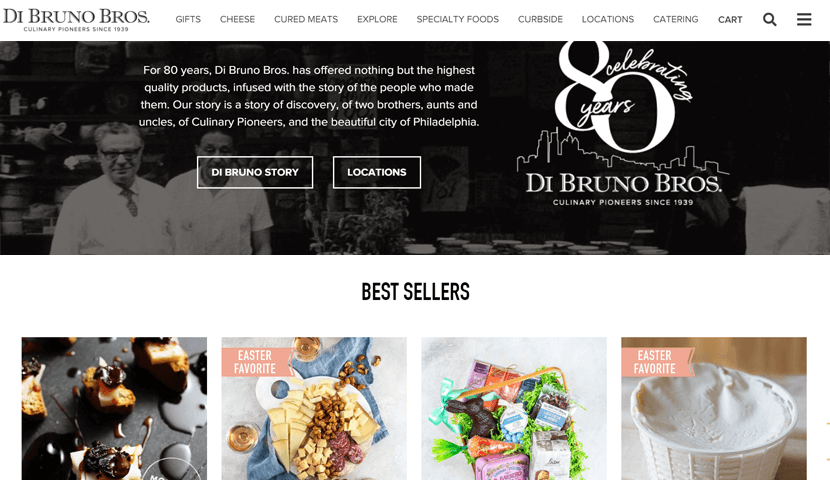 dibruno ecommerce website design