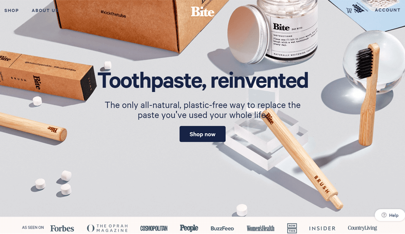 bitetoothpastebits creative website shop