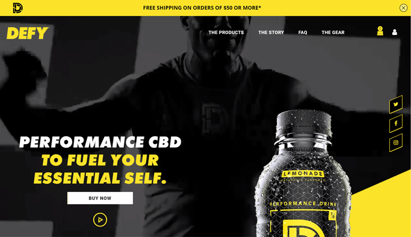 drinkdefy modern ecommerce website