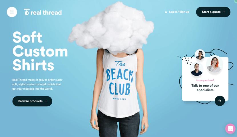realthread cool ecommerse web design