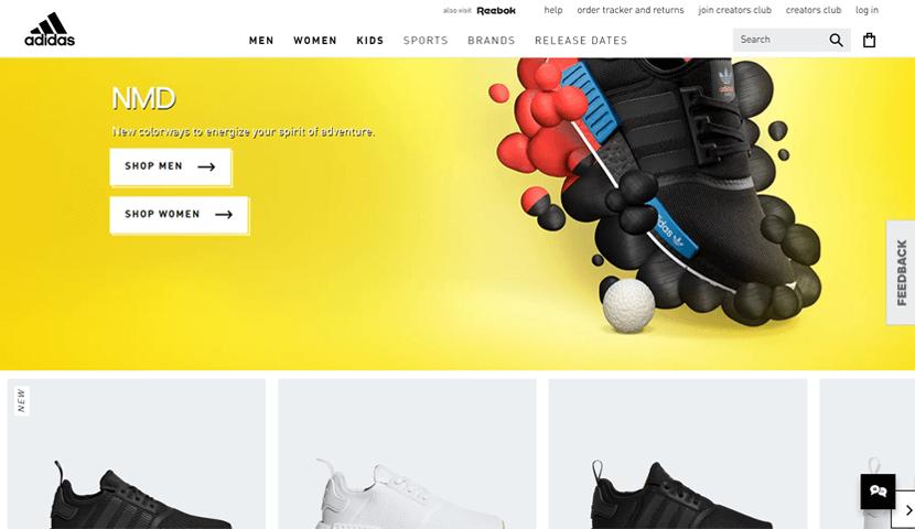 adidas online shop ecommerce