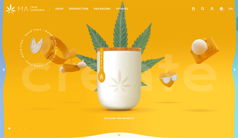 matruecannabis 3D ecommerce website design
