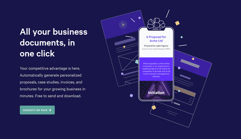 Qwilr landing page