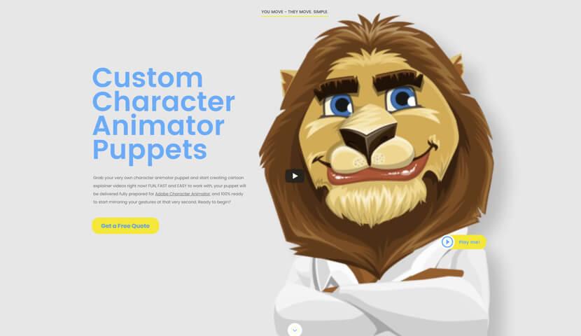 GraphicMama Custom Puppet Landing Page