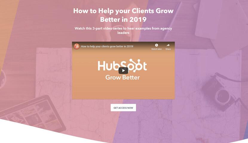 HubSpot Landing Page