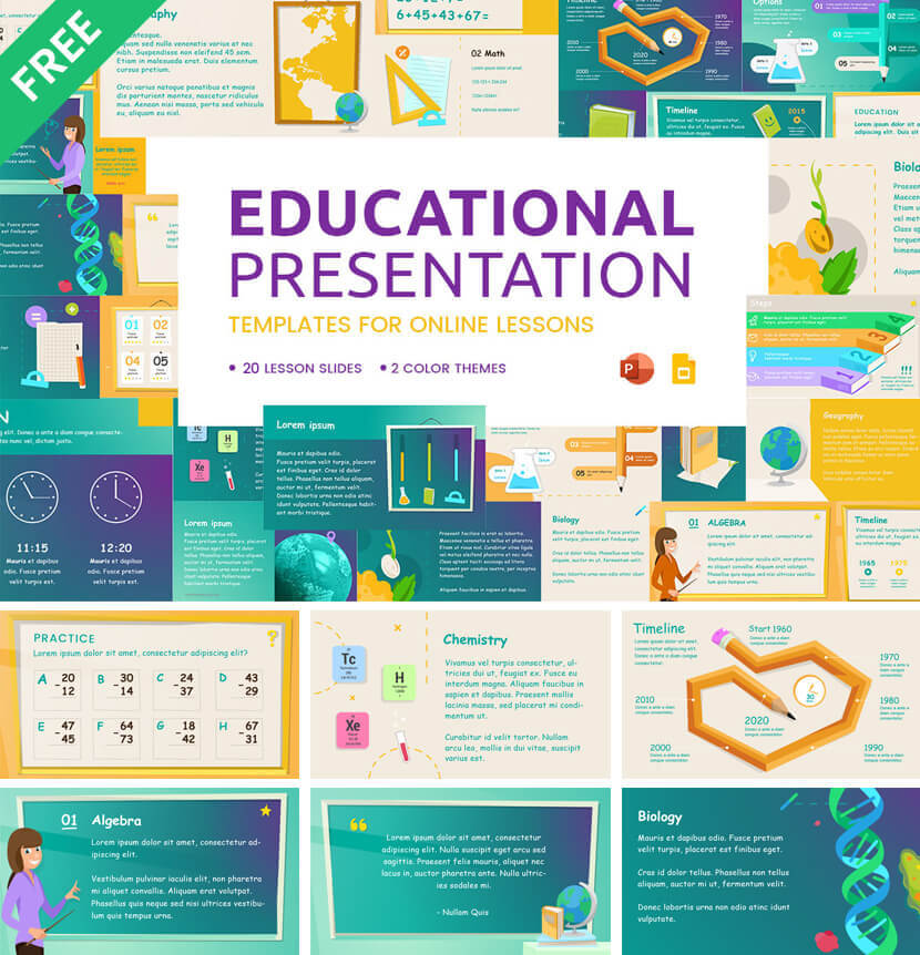 Free Educational Presentation Templates for Online Lessons