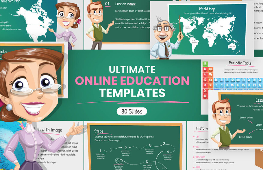 Ultimate Online Education Presentation Templates for PowerPoint