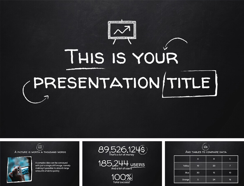 Free Chalkboard PowerPoint Template for Teachers