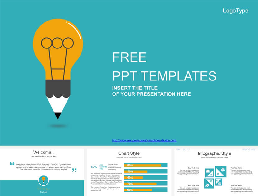 Creative Light Bulb Free PowerPoint Template