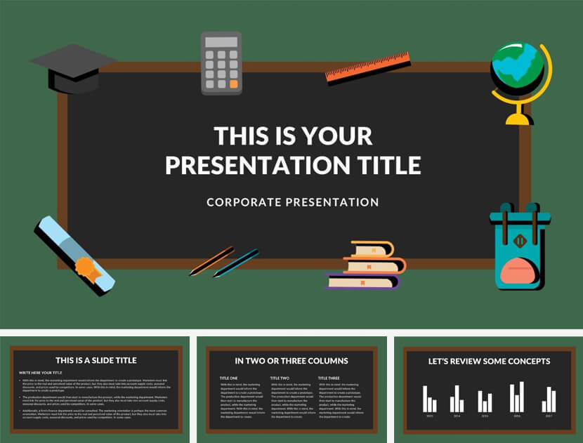 Blackboard Free School PowerPoint Template