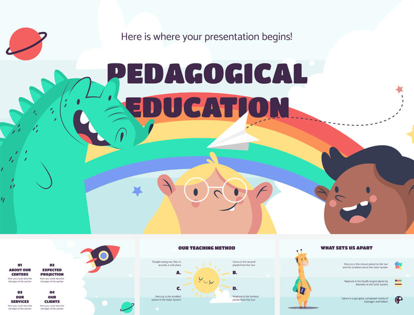 Pedagogical Education Free PowerPoint Template