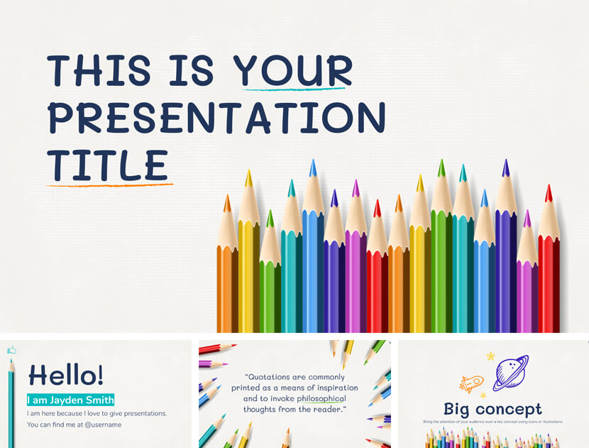 Ely Free Online Education PowerPoint Template