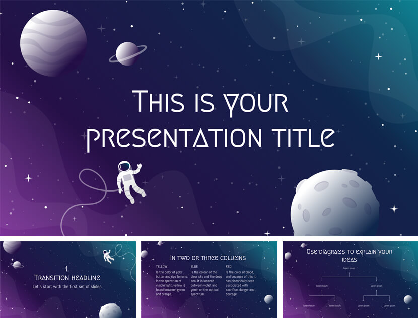 Iris Free Space Presentation Template for teachers