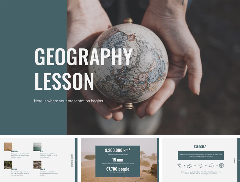 Free Geography Lesson PowerPoint Template