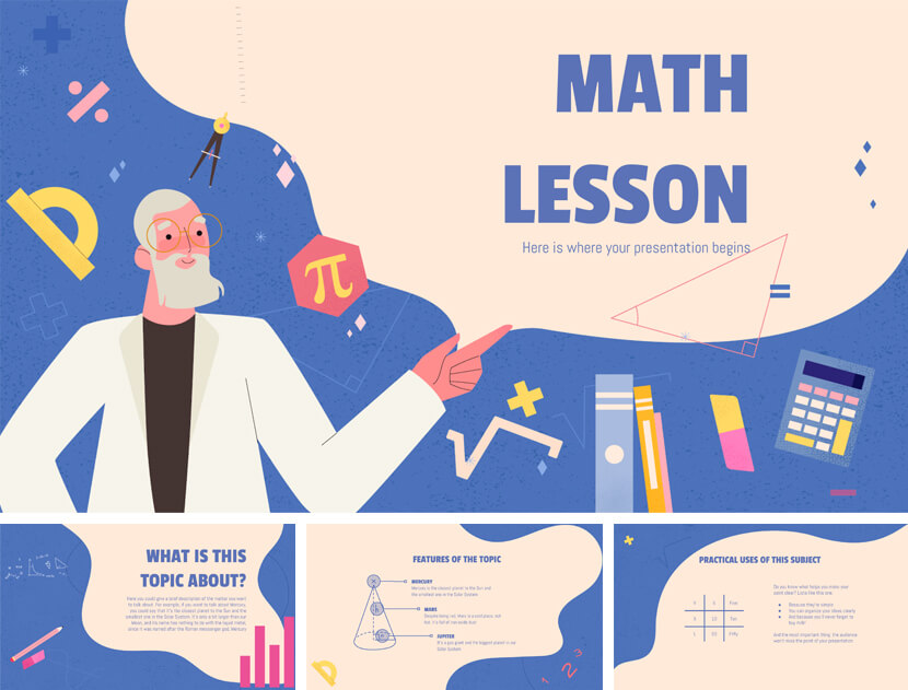 Free Maths Lesson PowerPoint Template