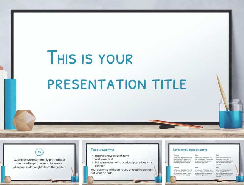 Seyton Free Online Classroom PowerPoint Template