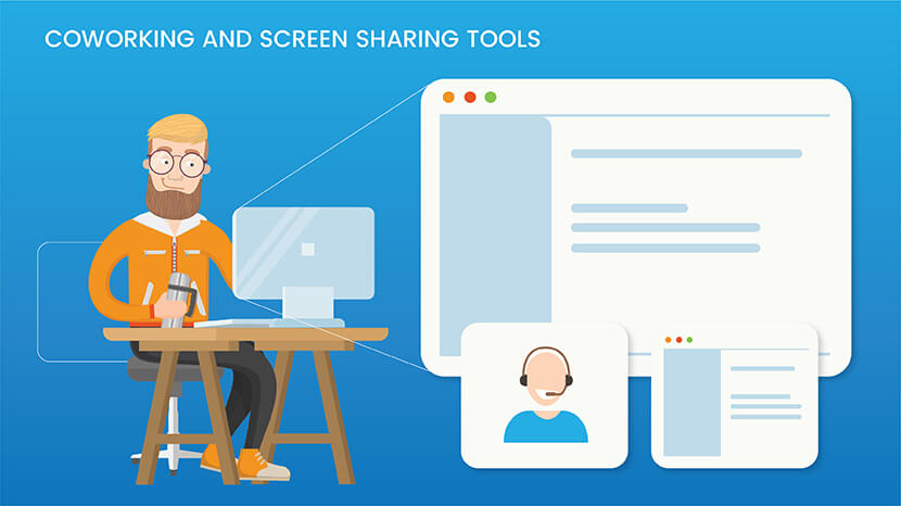 Coworking and screen sharing tools