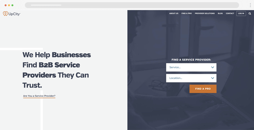 UpCity - service rating website