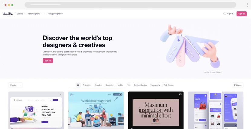 Dribbble - designers platform
