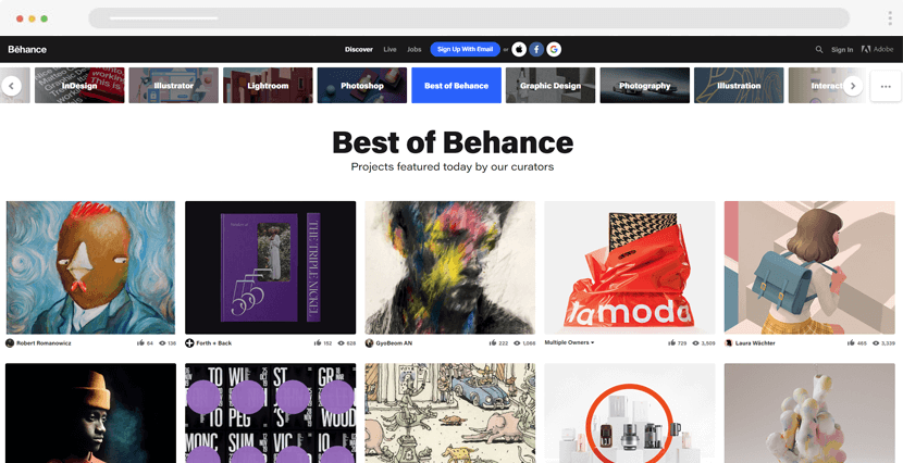 Behance - design portfolios