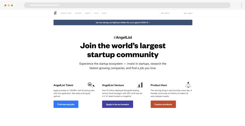 Angel - find startup agencies