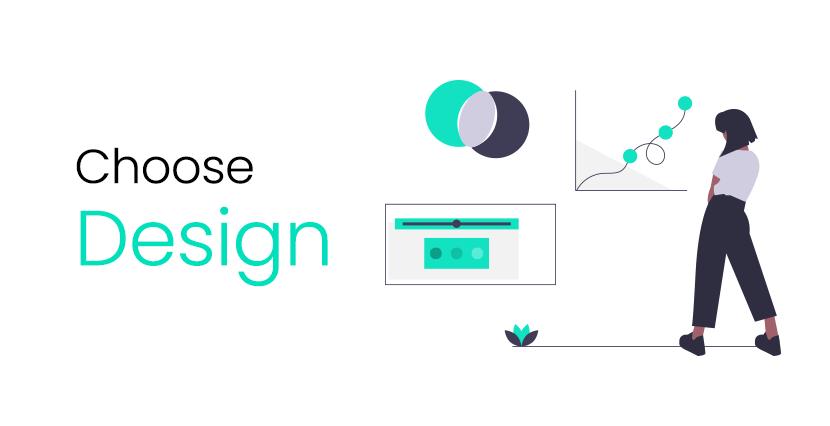 Choose Design or create custom