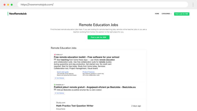 Remote Teaching platform