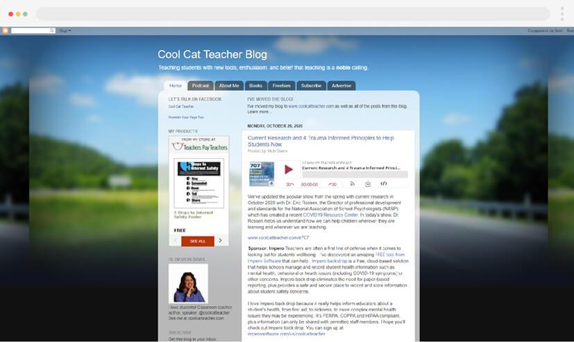 Cool Cat Teacher teaching blog