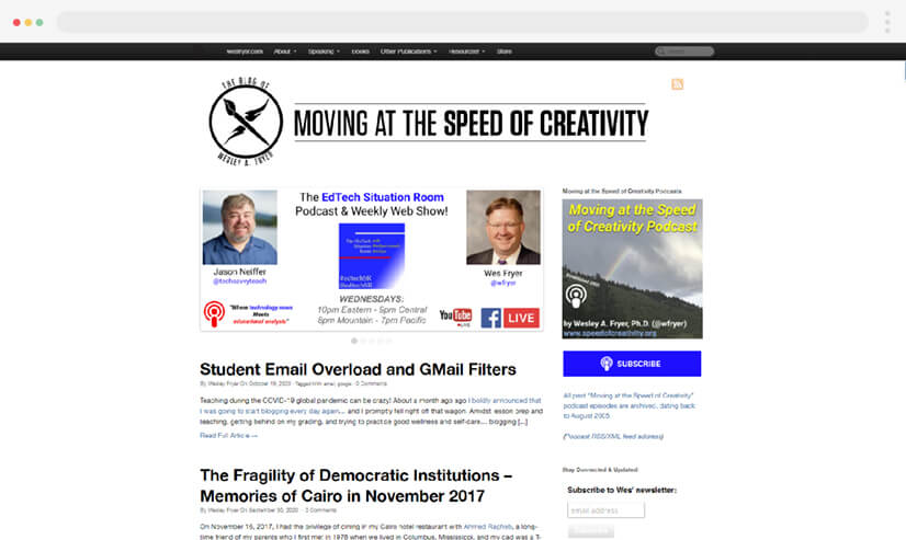 Speed Of Creativity Teaching Blog