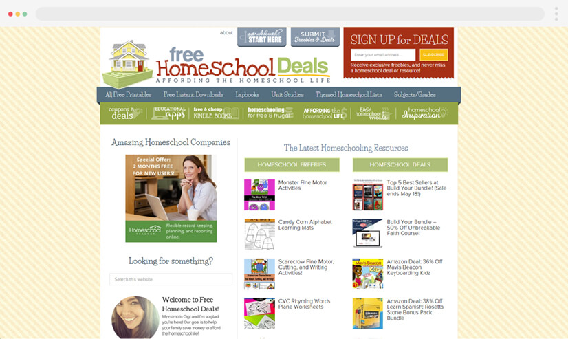 Free Home School Deals Blog for Teaching