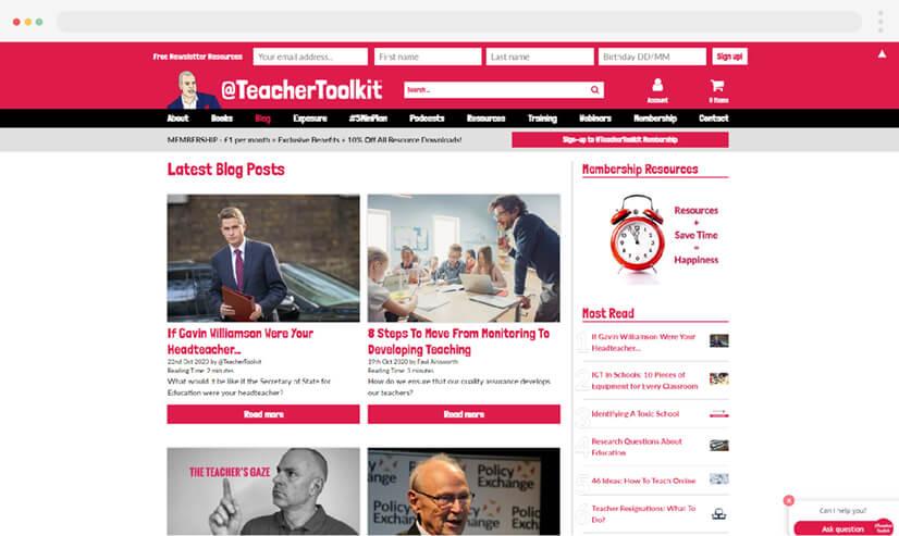 Teacher Toolkit Blog