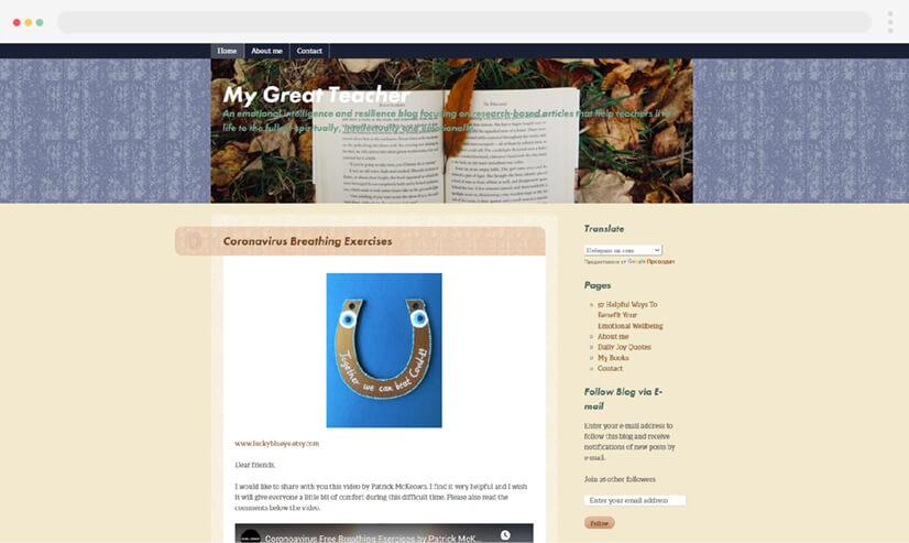 My Great Teacher Educational Blog