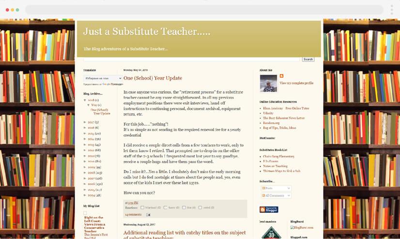 Just a Substitute Teacher Blog