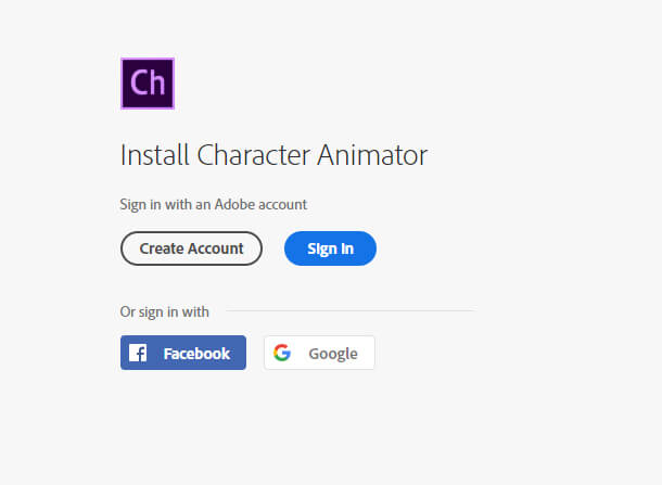 step 1: Character Animator Download