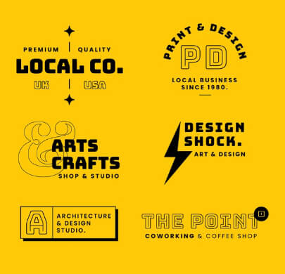 Black and Yellow Free Logo Templates