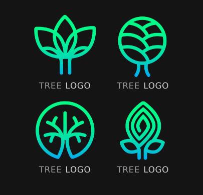 Modern Neon Free Logo Templates